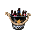 ice wine bucket hot sale with hemp rope