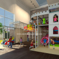 Castle Themed Indoor Playground Structure