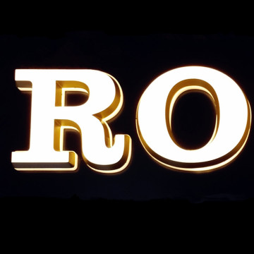 3D Solid Mini Acrylic LED Letters for shop advertising