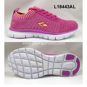 Women elastic flyknit sports shoes