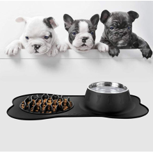 Slow Feeder and Pet Water Bowl Set