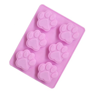 6 Footprints Silicone Soap Mold