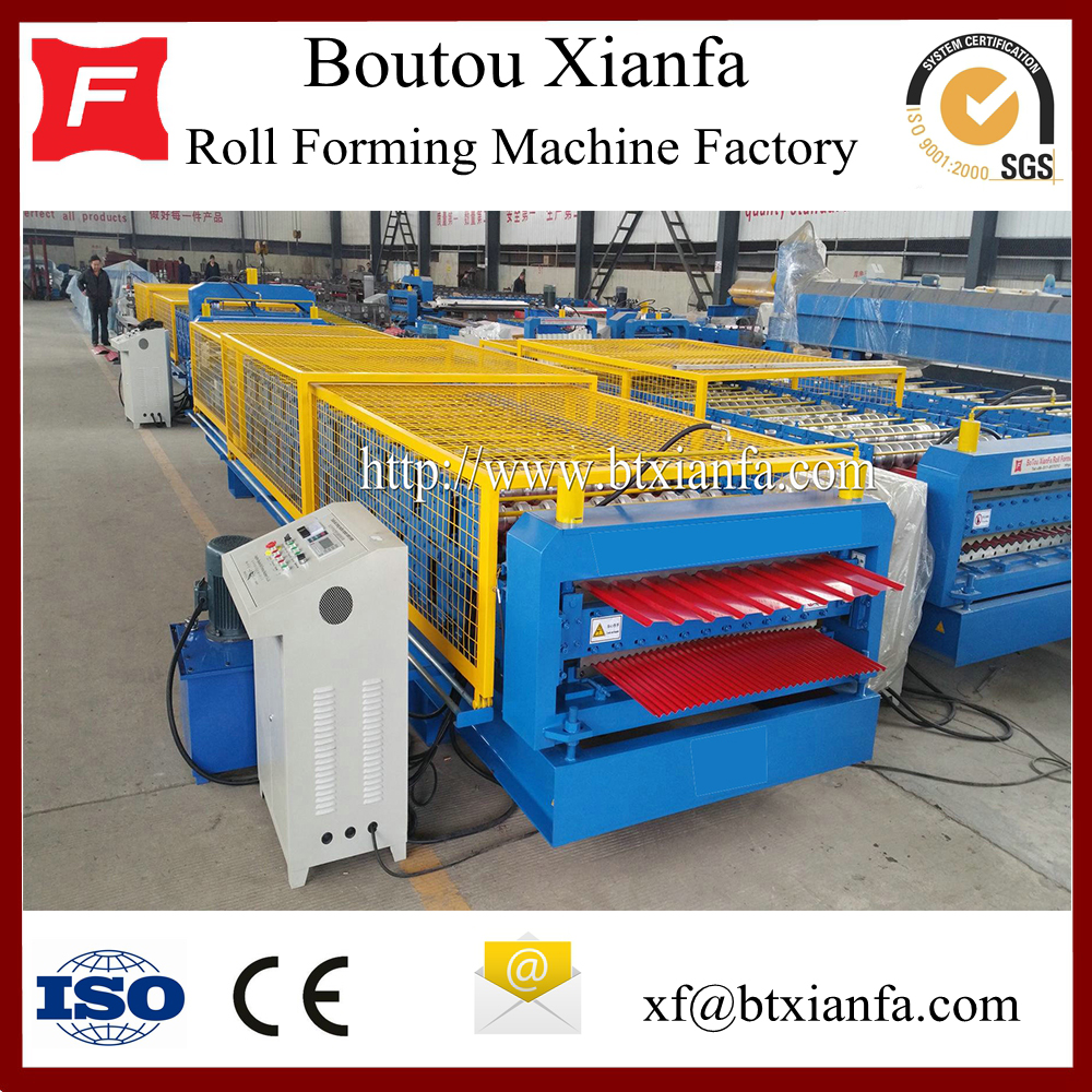 Corrugated Glazed Aluminum Roof Roll Forming Machine