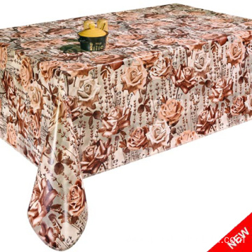 Pvc Printed fitted table covers Point Table Linens