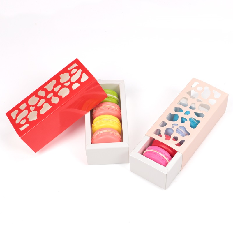 Hollow out macaron packaging box wholesale