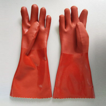 Brown Double Dipped PVC Glove  40cm