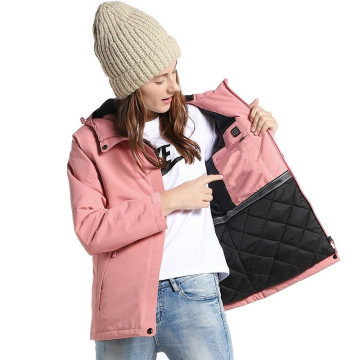 Electric Battery Heated Snow Coat Womens