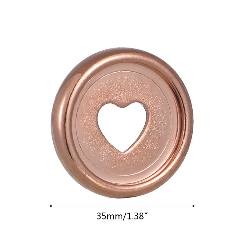 20pcs 35mm Heart Binder Rings Mushroom Hole Loose Leaf Notebook Notepad Binding Plastic Disc Buckle Hoop