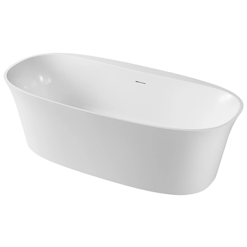 White Acrylic Small Free-Standing Bathtub
