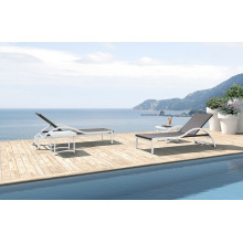 Outdoor Sun Lounger with Aluminum Frame