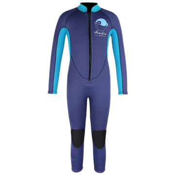 Seaskin Long Sleeves One Piece Kids Neoprene Wetsuits