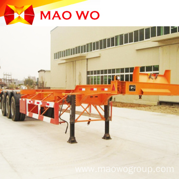 Widely Used 3 Axles Skeleton Container Trailer