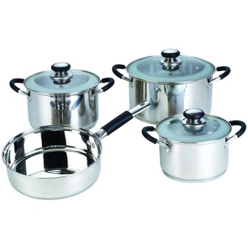 7PCS Stainless Steel Non-Stick Cookware Set Kitchenware