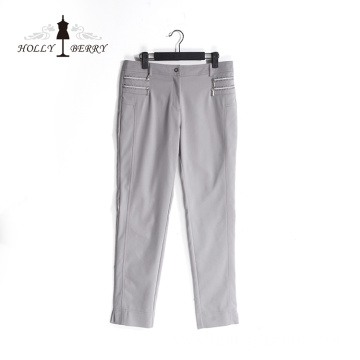 Stylish Office Lady Anti-wrinkle Loose Gray Palazzo Pants