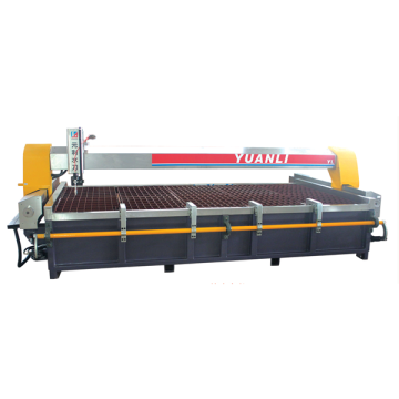 Waterjet cutting machine with automatic flip platform