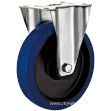 80mm industrial rubber  rigid   casters without  brakes