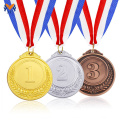 Blank award gold silver bronze medals