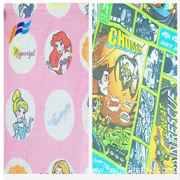 Polyester 190T PVC Taffeta Printed Waterroof Children Fabric