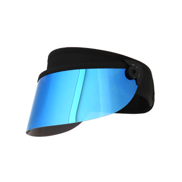 gold short lens visor cap