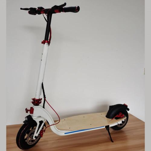 Factory Supply Whilte Maple Adult Electric Scooter