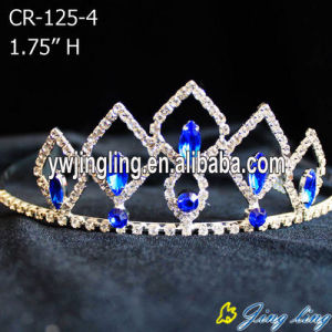 Sapphire Blue Rhinestone Pageant Crowns