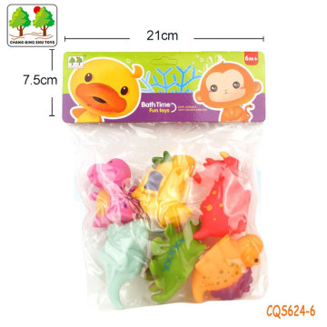CQS624-6 CQS soft water spray dinosaur 6PCS