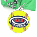 Diecast metal enamel color gold medals