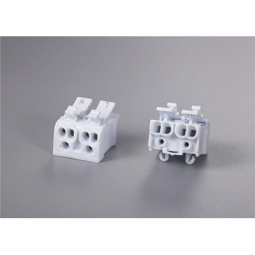 2 ports fast connection push wire connector