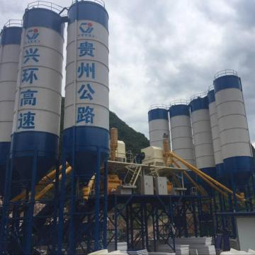 Thailand electric stationary 120m3h concrete batching plant