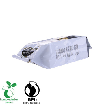 Biodegradable 4 side seal cafe pack with valve