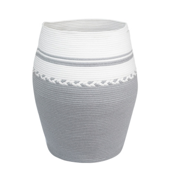Household Cotton R0pe Coiled Storage Basket