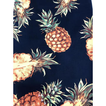 Summer Style Cotton Spendex Printed Fabric
