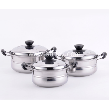 Stainless Steel Three Piece Set Soup Pot