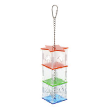 Acrylic Parrot Foraging Feeder Box Bird Hanging Feeding Box Pet Supply