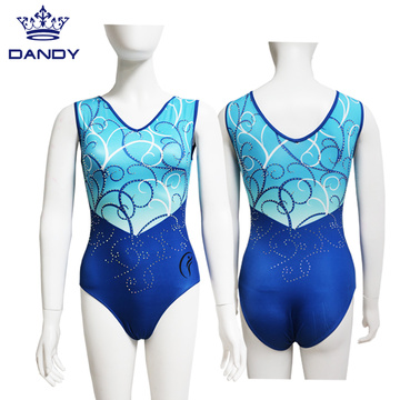 Custom sublimasi rhinestones leotards