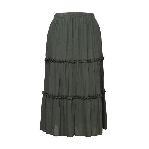 Wrinkle Skirts Women Three Section Patchwork Skirt