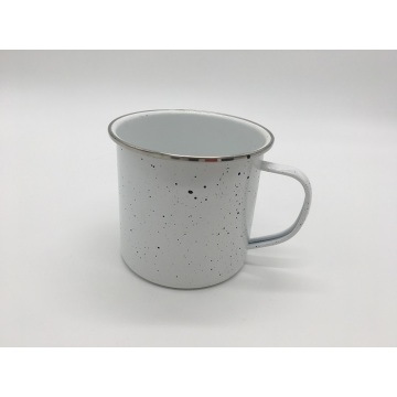 Colorful Speckled Finish Tin Cup for Lasting Durability