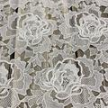 Handmade 3D Flower Chemical Lace Embroidery Fabric