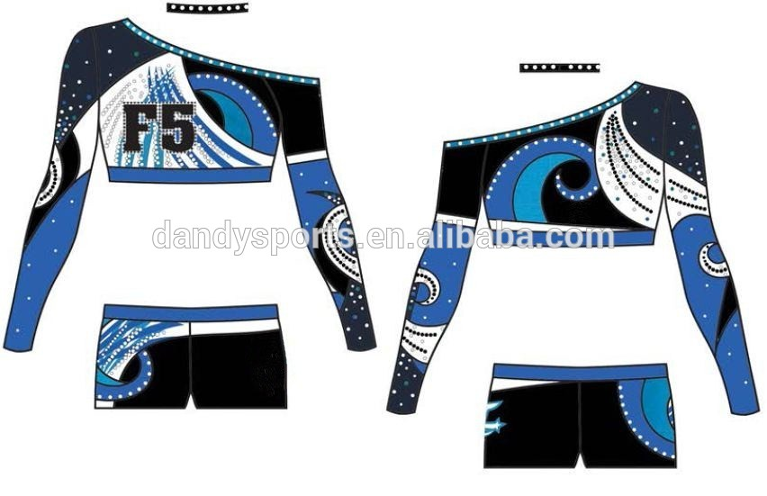 glitter cheerleading uniform