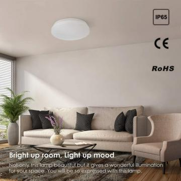 New 18W Simple White Emergency Ceiling Light