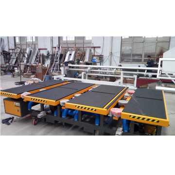 Automatic glass loading table with three arms