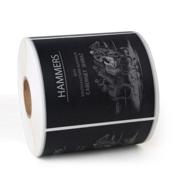 OEM Self adhesive printed wine packing label roll