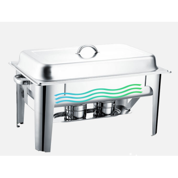 Rectangular stainless steel Chafing Dish with lid