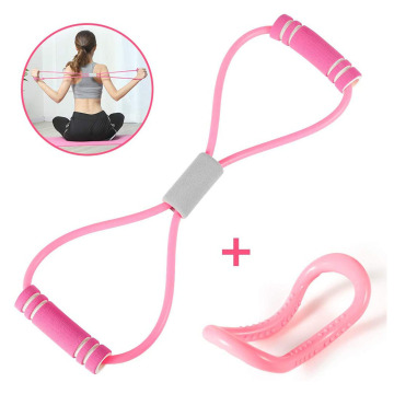 Yoga Pull Rope Pilates Ring Resistance Bands Set Workout Exercise Band Fitness Equipment for Home Gym Back Therapy Training Kit