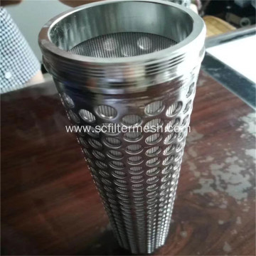 0.45- 500um 316 Stainless Steel Folding Filter Cartridge