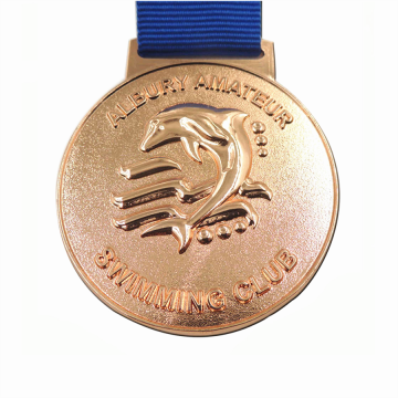 Personalized diecast copper sports medal