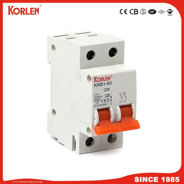 Miniature Circuit Breaker 4.5KA 63A 1P with NF