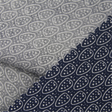 Cotton elastic printed poplin with retro style