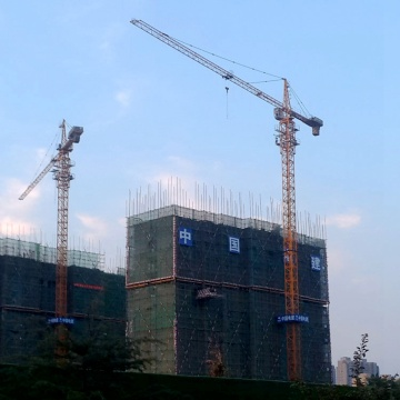 tower crane with small floor space