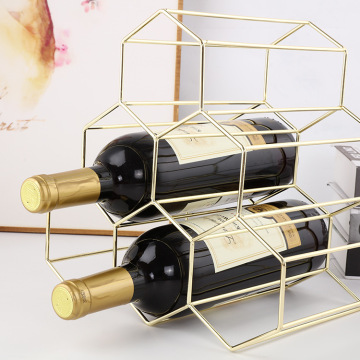 deluxe durable metal wine rack for hotel
